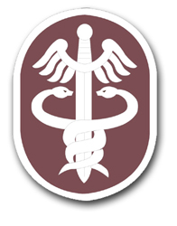 Army Medical Command Patch Vinyl Transfer Decal