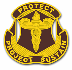 Army Medical Research and Materials Command Unit Crest Vinyl Transfer Decal