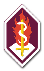 """Army Medical Services Command 11.75"""" Patch Vinyl Transfer Decal"""
