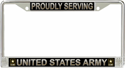 Army 'Proudly Serving' License Plate Frame