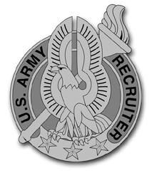 "Army Recruiter Gray Badge 10"" Vinyl Transfer Decal"