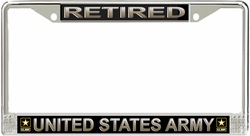 Army 'Retired' License Plate Frame