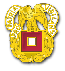 """Army Signal Corps Unit Crest 3.8"""" Vinyl Transfer Decal"""