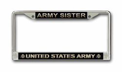 Army Sister License Plate Frame