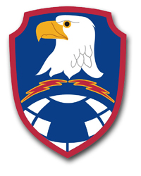 """Army Space and Missile Defense Command 3.8"""" Patch Vinyl Transfer Decal"""