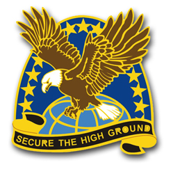 Army Space and Missile Defense Command Unit Crest Vinyl Transfer Decal