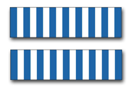 """Army United Nations Service Ribbon 3.8"""" Vinyl Transfer Decal"""