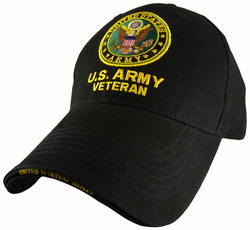 Army Veteran with Logo Adjustable Ball Cap