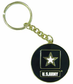 Army with Star Keychain