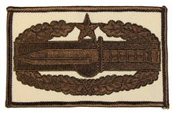 Combat Action Badge 2nd Award 4 Inch Patch