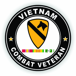 Combat Veteran 1st Cavalry with Vietnam Campaign Ribbons