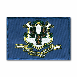 "Connecticut State Flag 3 1/2"" x 2 1/2"" Shoulder Patch"