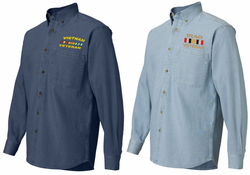 Custom Embroidered US Army Denim Shirts