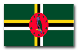 """Dominica Flag 8"""" Decal"""