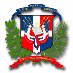 """Dominican Republic Coats Of Arms 3.8"""" Decal"""