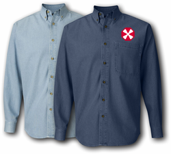 Eighth US Army patch Denim Shirt