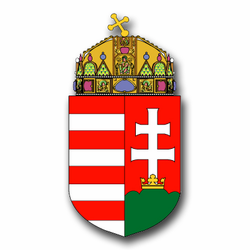 "Hungary Coats Of Arms 11.75"" Decal"