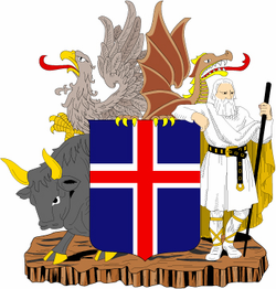 "Iceland Coats Of Arms 3.8"" Decal"