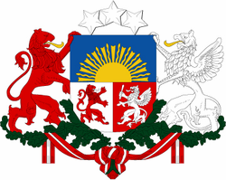 """Lativa Coats Of Arms 10"""" Decal"""