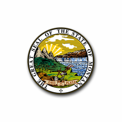 "Montana State Seal 11.75"" Vinyl Transfer Decal"