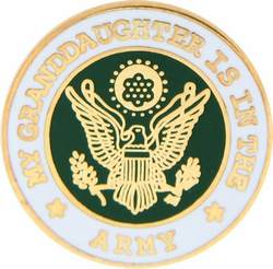 "My Granddaughter is in the Army 7/8"" Lapel Pin"