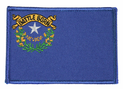 Nevada State Flag 3.5 Inch Patch