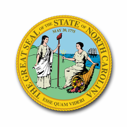 "North Carolina State Seal 8"" Vinyl Transfer Decal"