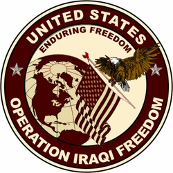 "Operation Iraqi Freedom 3.8"" Vinyl Transfer Decal"