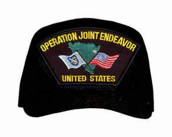 Operation Joint Endeavor - United States W/ Flag Ball Cap