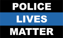 Police Lives Matter Thin Blue Line Decal