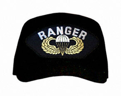 Ranger With Parachute And Wings Ball Cap