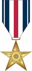 Silver Star Medal Decal Sticker