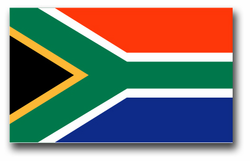 "South Africa Flag 11.75"" Decal"
