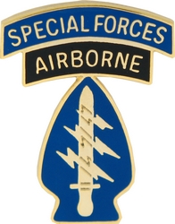 "Special Forces Airborne 1 1/8"" Lapel Pin"