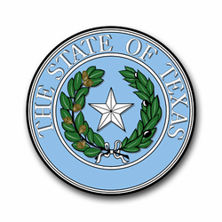 "Texas State Seal 8"" Vinyl Transfer Decal"