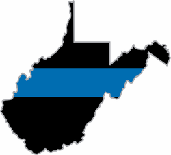 Thin Blue Line West Virginia State Decal