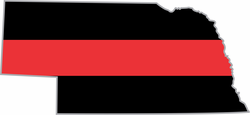 Thin Red Line Nebraska Firefighter Decal