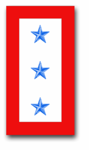"""Three Blue Star"" Service Flag 1.5"" x 2.8"" Decal"