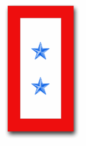 """""""Two Blue Star"""" Service Flag 1.5"""" x 2.8"""" Decal"""
