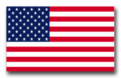 """United States Flag 8"""" Decal"""