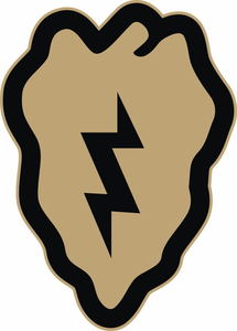 US Army 25th Infantry Division Desert Tan Decal Sticker