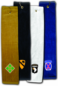 US Army Custom Embroidered Golf Towels