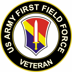 US Army First Field Force Veteran Sticker Decal