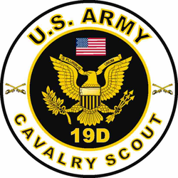 US Army MOS 19D Decal Cavalry Scout