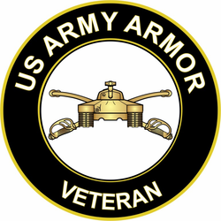 US Army Veteran Armor Sticker Decal