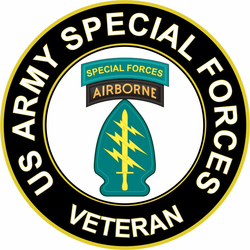 US Army Veteran Special Forces Sticker Decal