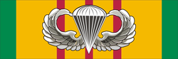 Vietnam Ribbon with Jump Wings Decal Sticker