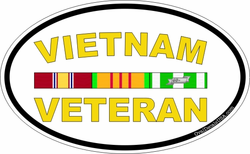 "Vietnam Veteran 5.5"" Oval Decal"