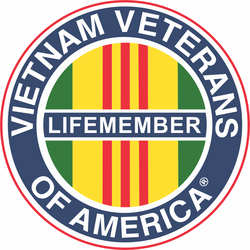 "Vietnam Veterans of America ""Life Member"" Decal"