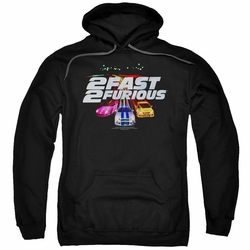 2 Fast 2 Furious pull-over hoodie Logo adult black